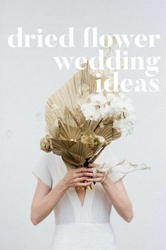 Modern french tropical bouquet ideas with dried flowers and white orchids White Wedding Flowers, Floral Wedding, Wedding Bride, Trendy Wedding, French Wedding Decor, Purple Flowers, Spring Flowers, Wedding Flower Arrangements, Wedding Bouquets