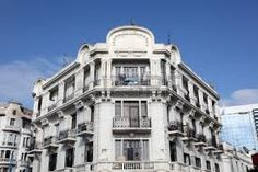 Art Deco architecture in the city of Casablanca, Morocco - Stock Image Casablanca Morocco, Travel Through Europe, Desert Tour, Art Deco Buildings, Colonial Architecture, White City, North Africa, Tours, Stock Photos