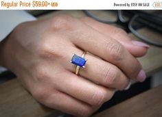 VALENTINES DAY SALE -  gold rectangle gemstone ring,gold ring,Lapis lazuli ring,September birthstone ring,bridesmaid gifts,wedding rings