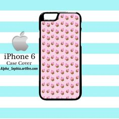 Pink Cupcakes Pattern iPhone 6 Case Cover
