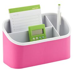 Pink Magnetic Organizer Bin