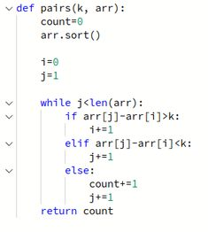 In this post we have given a pairs hackerrank solution in python. Free Programming Books, Absolute Value, 1 J, Integers, Thing 1, Learn To Code, Problem And Solution, Greater Than