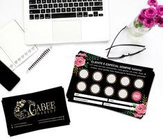 Desenvolvimento de logotipo + cartão de visitas + cartão fidelidade Business Card Design, Business Cards, Prospectus, Member Card, Modern Bathroom Design, Galaxy Wallpaper, Name Cards, Professional Makeup, Visual Identity