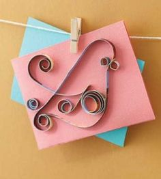 Simple quilled bird design brightens a handmade card or invitation. Diy Cards For Mother's Day, Mother's Day Diy, Cards Diy, Quilling Cards, Paper Quilling, Diy Projects To Try, Craft Projects, Craft Ideas, Quilling Designs