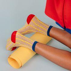 The Sheer Patterned Sock via @beyondthemag
