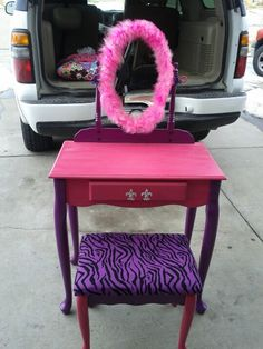 diy vanity for little girl. Do not like this one but could use the idea of putting charms on front  Girls VanityDiy VanityKids A freakin dorable little girl vanity makeover Why oh why don t I