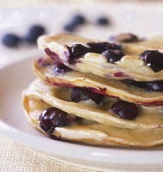 Pancakes aux myrtilles - les meilleures recettes de cuisine dÔdélices