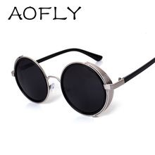 Gothic Steampunk Sunglasses Woman Coating Mirrored Sunglasses Round Circle Lenses Sun glasses men Retro Vintage Gafas Masculino(China (Mainland))
