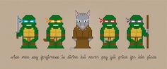 Teenage Mutant Ninja Turtles Characters - Digital PDF Cross Stitch Pattern