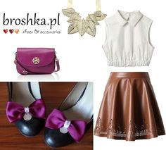 outfit made by broshka.pl shoe clips and handbags