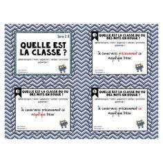 Cartes à tâches: Quelle est la classe Série 2B Speech Therapy Activities, France, Daily 5, Word Work, Task Cards, Spelling, Language, Classroom, Journal
