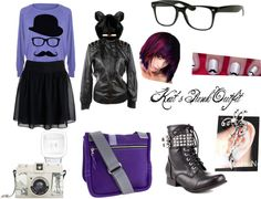 """""""Kat's Punk Outfit"""" by chloebelle1221 on Polyvore"""