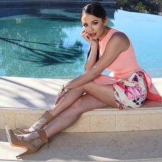 Spring colors are so cute on Janel Parrish. | Pretty Little Liars
