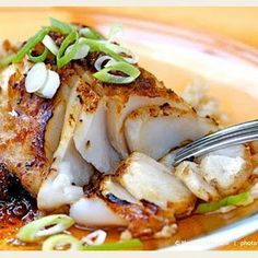 Sauteed Sablefish with Ginger-Soy. Sauteed Sablefish with Ginger-Soy Glaze . one of our Super Seven Sustainable Seafood Picks for World Oceans Day! Cod Fish Recipes, Asian Recipes, Healthy Recipes, Red Snapper Recipes, Baked Cod Recipes, White Fish Recipes, Best Seafood Recipes, Fried Fish Recipes, Cheap Recipes