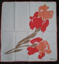 Vera orange iris napkins