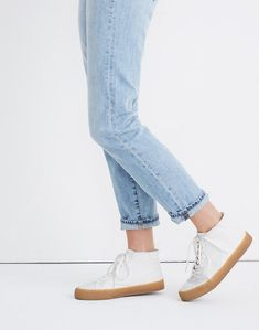 Sidewalk High-Top Sneakers in Recycled Canvas Adidas Shoes Women, Walk On, Cotton Canvas, Plus Size Fashion, Madewell, High Tops, Mom Jeans, High Top Sneakers, Recycling