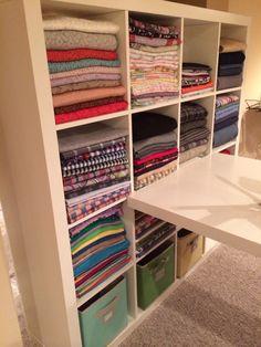 Craft room Organization: Fabric Organization