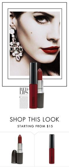 """""""Embrasse-Moi / Kiss Me"""" by halfmoonrun ❤ liked on Polyvore featuring beauty and MAC Cosmetics"""