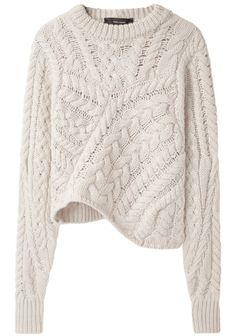 Isabel Marant Versus Cableknit Wool Sweater