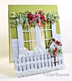 Christmas Eve window and Birdhouse by kittie747 - Cards and Paper Crafts at Splitcoaststampers