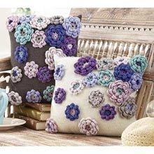 Spring Bloom Pillows - Set of 2 Knit & Crochet Kits - Willow Yarns