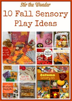 Fall Sensory Activities for Children