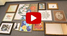 how to hang a gallery of art video