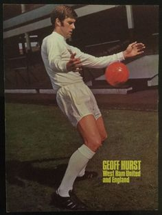 A4 Football picture poster GEOFF HURST England + West Ham (c1970) in Sports Memorabilia, Football Memorabilia, Prints/ Pictures | eBay