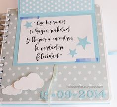 Hecho con mis manos! Baby Scrapbook, Scrapbook Albums, Scrapbooking, Diy And Crafts, Paper Crafts, Baby Album, Mini Photo, Exploding Boxes, All Paper