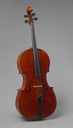 The Batta-Piatigorsky Violoncello, 1714  Antonio Stradivari (Italian, 1644–1737)  Cremona, Italy  Spruce, maple, ebony                                           Just as Stradivari's career began around 1665, there was a major advance in string making: the development of gut strings overspun with fine metal wire. With the availability of these new strings, Stradivari was able to reduce the size of the cello, thereby improving its acoustical qualities and making it easier to play. Of the…