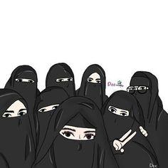 Gambar Kartun Muslimah Bercadar Bersama Teman Hijab In 2019