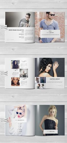 Fashion Square Universal Brochure / Catalog on Behance Fashion Typography, Fashion Catalogue, Model Agency, Book Design, Fashion Show, Fashion Photography, Polaroid Film, Behance, Template