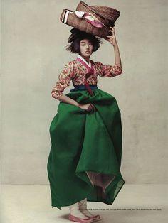 hanbok | modern | flower print