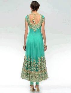 Light green anarkali dress