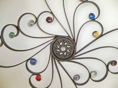 Wrought Iron Embellished Wall DecorSwirls of by CoalCreekCrossing, $35.00