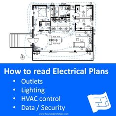 How to read electrical plans. Click through to www.houseplanshelper.com for how to read electrical plans, how to read house plans and more on home design. Blueprint Symbols, Blueprint Reading, Electrical Plan, House Plans And More, Media Unit, Plan Drawing, Overhead Lighting, House Made, Exterior Lighting