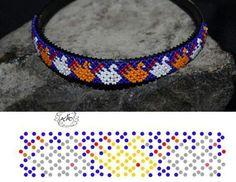Beaded Flowers Patterns, Bead Loom Patterns, Bracelet Patterns, Beading Patterns, Netted Bracelet, Beaded Earrings, Bangle Bracelets, Collar Redondo, Beard Jewelry