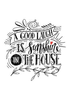 Items similar to Home quote poster House quote printable A good laugh is sunshine in the house New house gift Quote for home New homeowner Housewarming gift on Etsy House Quotes, Home Quotes And Sayings, Gift Quotes, Funny New Home Quotes, Quote Posters, Quote Prints, Hand Lettering, Lettering Ideas, Brush Lettering