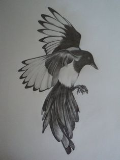 Magpie Sleeve Tattoo Pictures