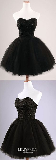 Black Homecoming Dresses Short, Ball Gown Homecoming Dresses Sweetheart, Tulle Homecoming Dresses Lace, Sequin Homecoming Dresses Elegant