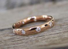Diamond Eternity Wedding Band in 14K Rose Gold by Studio1040, $780.00