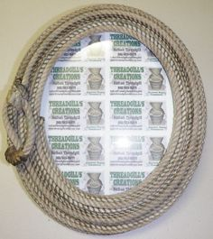 Texas Western Rope Handmade Picture Frame Cowboy by Nikenat02