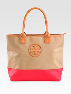 Tory Burch - Jaden Coated Canvas Tote - Saks.com