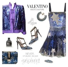 """""""Valentino Stars"""" by majezy ❤ liked on Polyvore featuring Wall Pops!, Valentino and RED Valentino"""