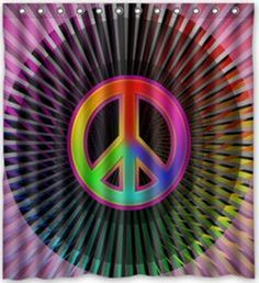 Peace Man. Bathroom Shower CurtainsBathroom ShowersWaterproof FabricPeace  Signs