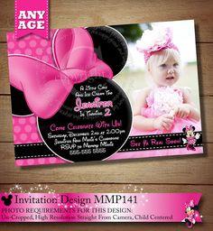 ToddlerBirthday Girl Birthday - Ecard invitation for 1st birthday