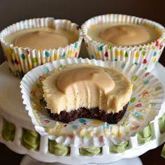 #GlutenFree Dulce De Leche Cheesecake Bites. They're also Dairy, Refined Sugar, Grain & Refined Sugar  Free!