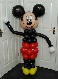 Mickey Mouse Balloon Columns Plus Mickey Mouse Balloons, Disney Balloons, Fiesta Mickey Mouse, Mickey Mouse Bday, Mickey Mouse Clubhouse Birthday Party, Mickey Mouse Parties, Mickey Party, Balloon Decorations Without Helium, Balloon Columns
