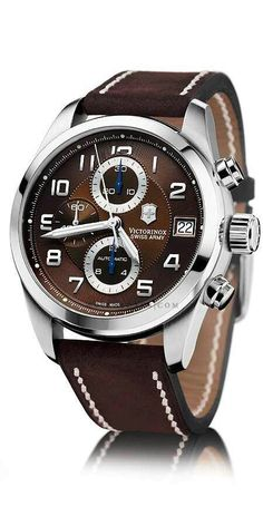 Even before they introduced Swiss Army watches, Victorinox was currently widely known for another item: the Swiss Army knife. Men's Watches, Luxury Watches, Cool Watches, Fashion Watches, Watches For Men, Casual Watches, Gq Style, Bracelet Cuir, Well Dressed Men