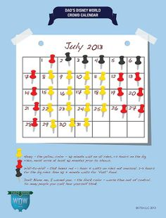 Dad's July 2013 Disney World Crowds Calendar